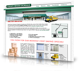 Company Name: Valley River Storage Business Type: Storage and Truck Rentals Description:Premium graphic web design with ubiquitous online quote forms and interactive Google locator map. Completely SEO optimized.